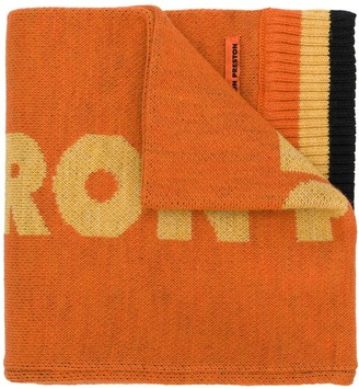 Heron Preston Dragons knitted scarf