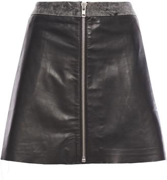 Muu Baa Muubaa Impala Leather Mini Skirt