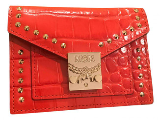 MCM Red Leather Wallets