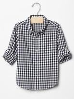 Gap Gingham convertible shirt