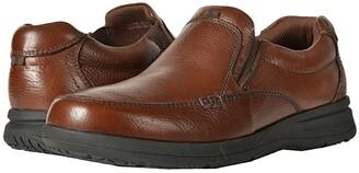 Nunn Bush Cam Moc Toe Slip-On (Black Tumbled Leather) Men's Slip-on Dress Shoes