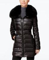 MICHAEL Michael Kors Fox-Fur-Trim Down Puffer Coat