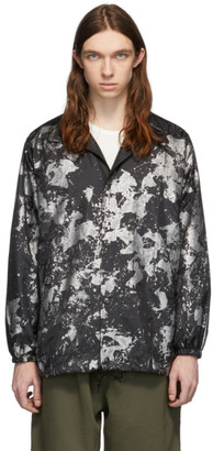 Needles Black and Silver Reflective Paint Coach Jacket