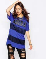 NY Striped Long T-Shirt