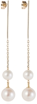 Laura Lee Jewellery Double Freshwater Pearl Drop Earrings