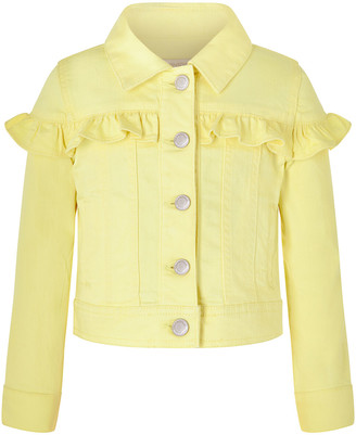 Under Armour Layla Denim Jacket with Frills Yellow