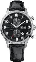 BOSS Hugo Boss Watch, Men's Black Leather Strap 1512448