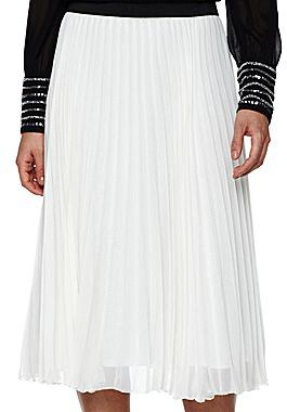 JCPenney Worthington® Accordian Pleat Skirt with Contrasting Waistband