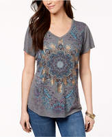 Style&Co. Style & Co Cutout Graphic T-Shirt, Created for Macy's