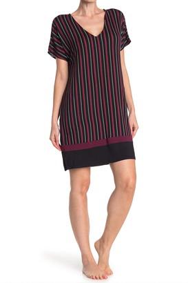 Donna Karan V-Neck Short Sleeve Nightshirt