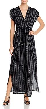 Elan International V-Neck Faux Wrap Maxi Dress
