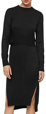 AllSaints Flora Merino Wool Sweater Dress