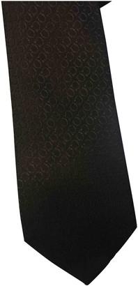 Salvatore Ferragamo Black Silk Ties