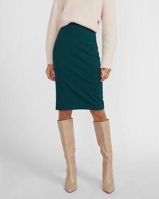 Express High Waisted Clean Pencil Skirt