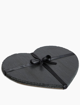 Marks and Spencer Set of 2 Heart Slate Placemats
