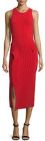 Jonathan Simkhai Dasha Sleeveless Midi Dress, Red/Black