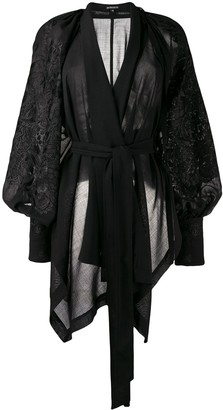 Ann Demeulemeester Embroidered Wrap Top