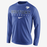 Nike College Practice Football (Kentucky) Men's Long Sleeve Top