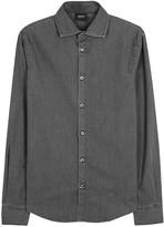 Armani Jeans Charcoal Stretch Denim Shirt