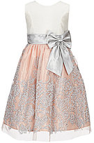 Jayne Copeland Little Girls 2T-6X Bow-Waist Beaded Fit-And-Flare Dress