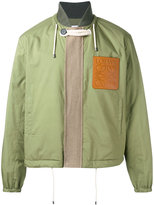 Loewe logo patch bomber - men - Cotton/Linen/Flax/Leather/Polyester - 48