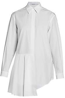 Agnona Women's Asymmetric Poplin Shirt