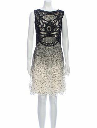 Naeem Khan Silk Knee-Length Dress