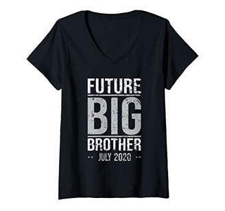 Womens Brother Coming Soon To Be Future Big Brother July 2020 V-Neck T-Shirt