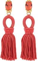 Oscar de la Renta Short Silk Tassel C Earring