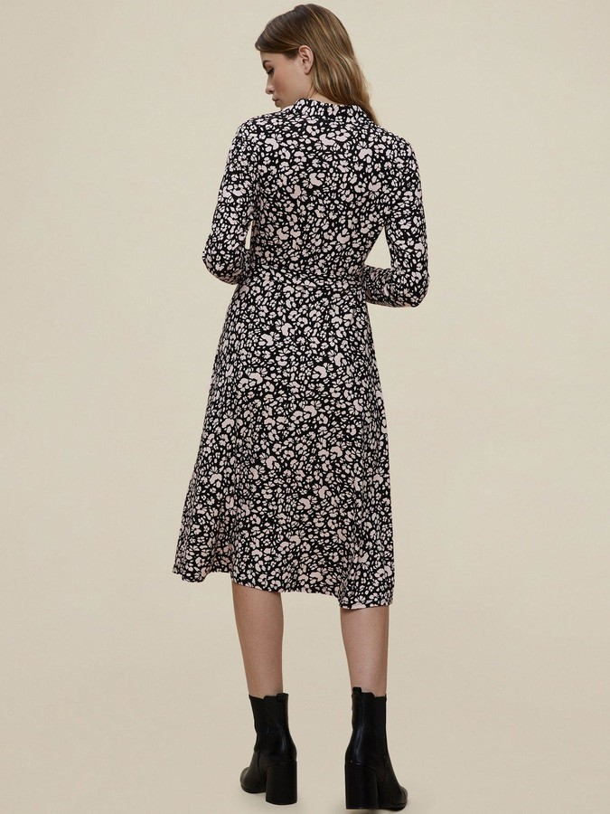 Thumbnail for your product : Dorothy Perkins Jersey Mono Floral Shirt Dress - Black