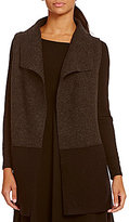 Eileen Fisher Funnel Neck Wool Vest