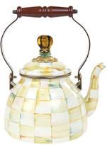 Mackenzie Childs MacKenzie-Childs - Parchment Check Enamel Tea Kettle - Small