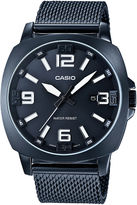 Casio Mens Steel Gray Mesh Strap Watch MTP1350CD-8A1