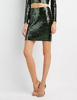 Charlotte Russe Sequin Pencil Skirt