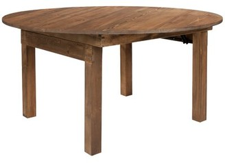 Alistair Solid Wood Dining Table Millwood Pines
