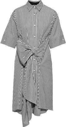 Tome Bow-detailed Striped Cotton-poplin Shirt Dress