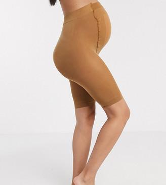 ASOS DESIGN Maternity anti-chafing shorts in golden bronze
