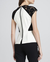 Rebecca Taylor Lace-Detail Flared Top