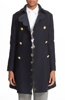 RED Valentino Women's Double Breasted Wool Blend Coat