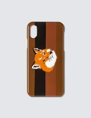 MAISON KITSUNÉ Stripes Fox Head iPhone Case
