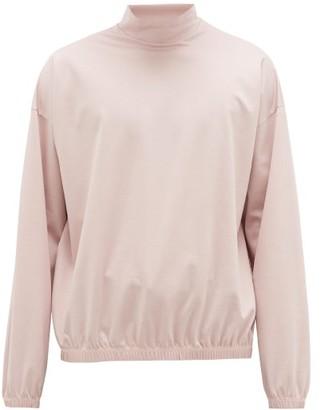 SASQUATCHfabrix. Stand-collar Cotton-jersey Sweatshirt - Light Pink