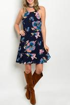 Honeybelle honey belle Navy Floral Dress