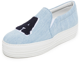 Joshua Sanders LA Platform Denim Slip On Sneakers
