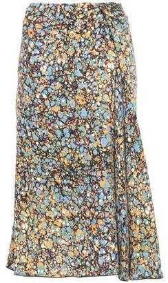 Victoria Beckham Asymmetric Pleated Printed Crepe Skirt