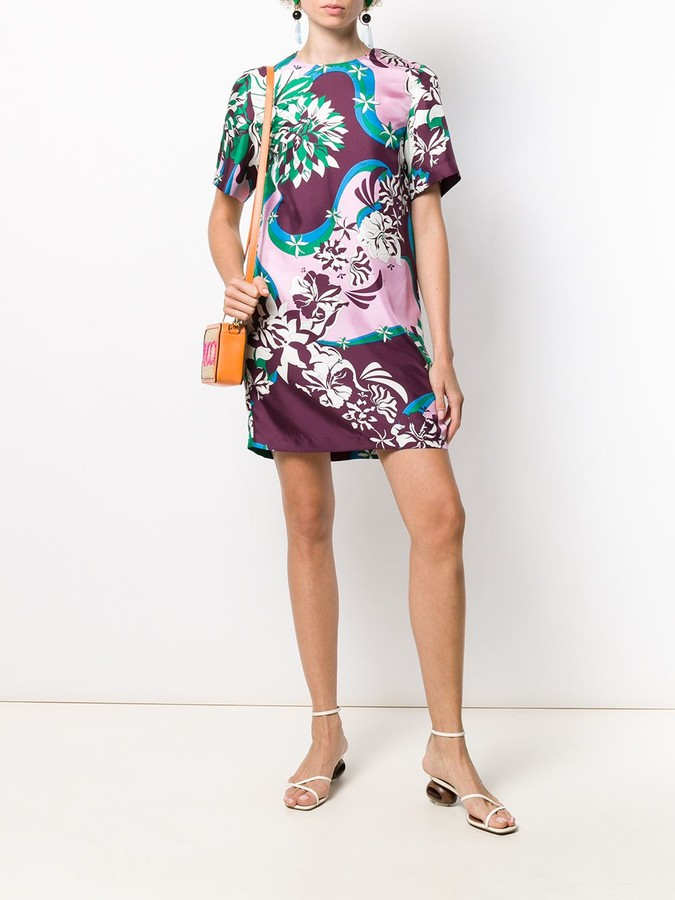 Thumbnail for your product : Emilio Pucci Floral Print Shift Dress