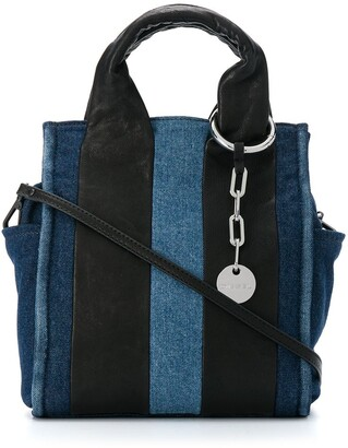 Diesel Denim Colour-Block Cross Body Bag