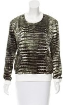 Reed Krakoff Satin Snakeskin Print Top w/ Tags