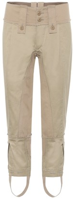 Junya Watanabe Cropped mid-rise skinny cotton pants