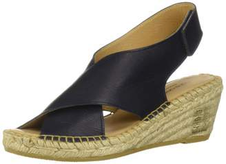 Andre Assous Women's Florence Espadrille Wedge Sandal Navy 6 M US