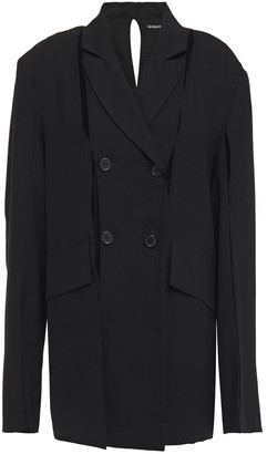 Ann Demeulemeester Cutout Wool-blend Blazer